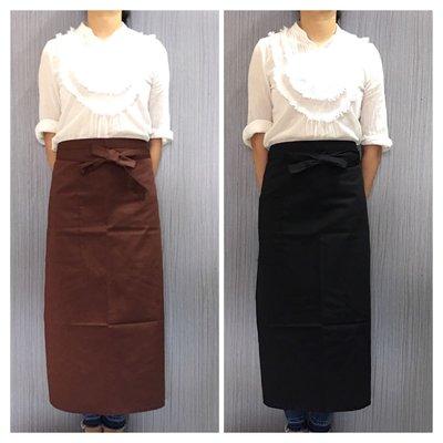 巨星專業圍裙 工作服 半身圍裙 T/C 斜紋棉質 白色 深咖啡 鐵灰 深藍 黑