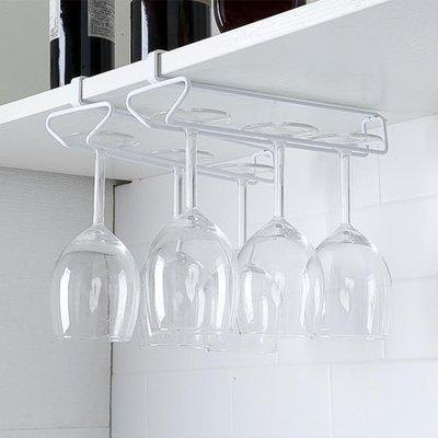 鐵藝廚櫃掛架子免釘創意收納架歐式酒瓶架紅酒架紅酒杯架高腳杯架開單個