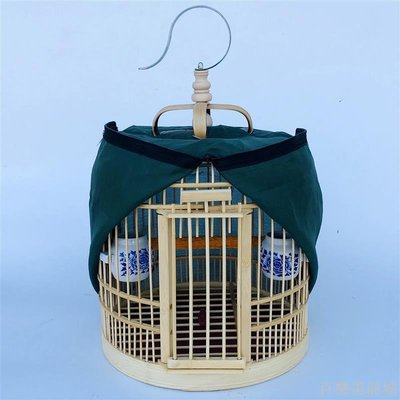 百樂美商城 鳥畫眉竹制海洋小號八哥鳥配件鳥籠籠子大號