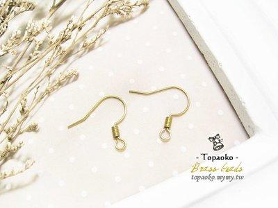 串珠材料˙耳環配件 黃銅螺旋耳勾30對60P【F7506-1】16mm飾品手作DIY《晶格格的多寶格》