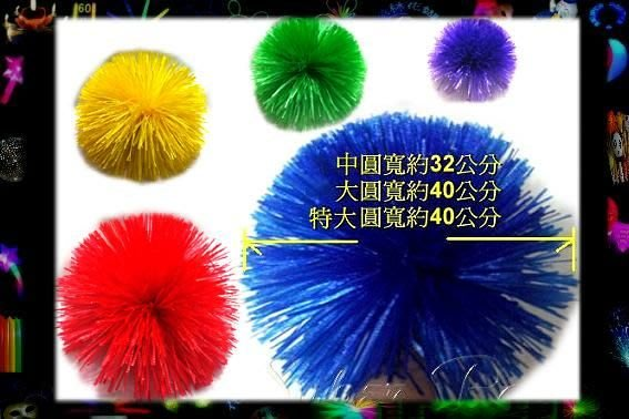 台灣製造-高品質 【3D中圓啦啦隊彩球*E30038】啦啦隊表演3D彩球.舞會道具.玩具☆萬鑫夜光商城☆