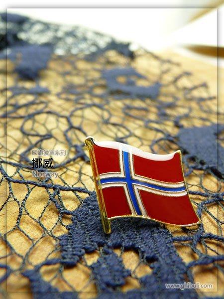 【衝浪小胖】挪威國旗徽章/胸章/勳章/別針/獎章/200國可選購蒐集