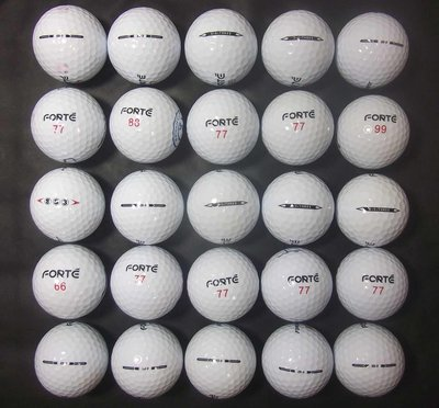 *新威全高爾夫**~特級9~9.9999成新(ForeMost Forte XS3+SS3)三層球(25顆)