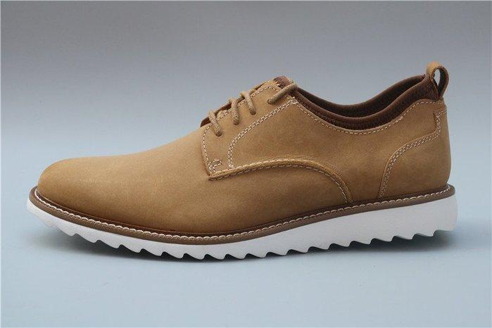 陽光角落~  US13 真皮 淺駝色擦色色男生大尺碼皮鞋真皮牛皮 休閒鞋