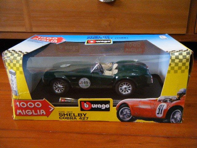 Burago 1965 Shelby Cobra 427 1000 模型車 [ 1:24 ] ... 義大利製
