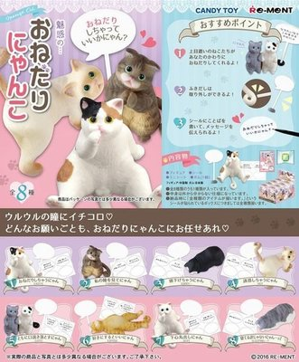 Re-ment 食玩 魅惑の…おねだりにゃんこ 貓咪 全套 8款