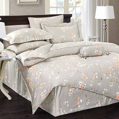 GiGi居家寢飾生活館~100%純天絲四件式床包鋪棉兩用被套組~雙人加大6x6.2尺-春風又綠 ~免運費~