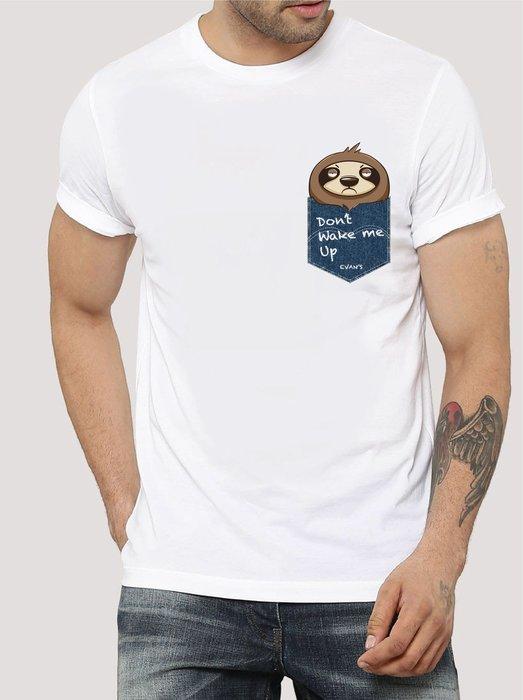 EVAN'S 設計款 - 樹懶 T恤 ( 白 / 灰 / 藍 )