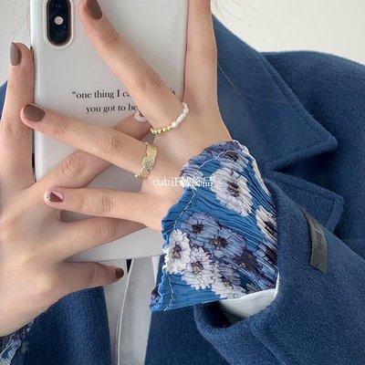 cub正韓飾品天然淡水珍珠氣質韓國百搭混搭戒指疊戴指環女ins潮個性輕奢設計