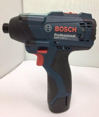 鋰電衝擊起子機 德國 BOSCH GDR120-LI 12V單主機 雙速可正反轉/充電式衝擊起子機/電動工具螺絲刀