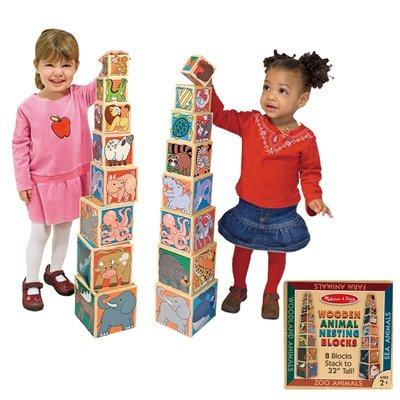 【晴晴百寶盒】美國進口動物學習堆疊塔 Melissa&Doug扮演角系列手眼協調生日禮物家家酒 益智遊戲玩具W658