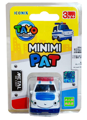 TAYO小巴士 迷你合金小巴士 PAT派特 警車_TT 21251 原價99元 官方直銷店 永和小人國玩具店