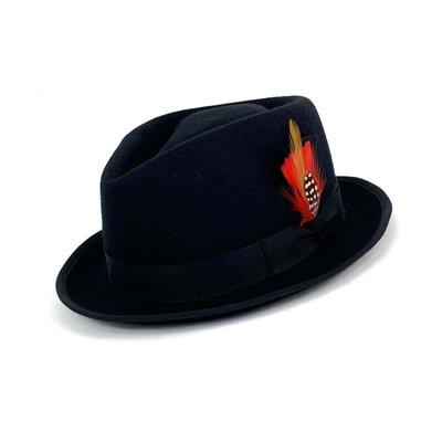 ☆Yango Wu☆ 紳士帽-特小帽沿基本款 紳士帽入門 黑色款 編號:0035110