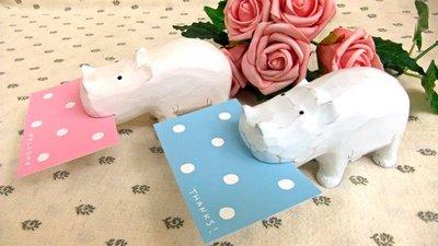 《散步生活雜貨-鄉村散步》日本進口 T-Lab 木質動物 Card Holder系列 河馬-兩色選擇(優惠價)