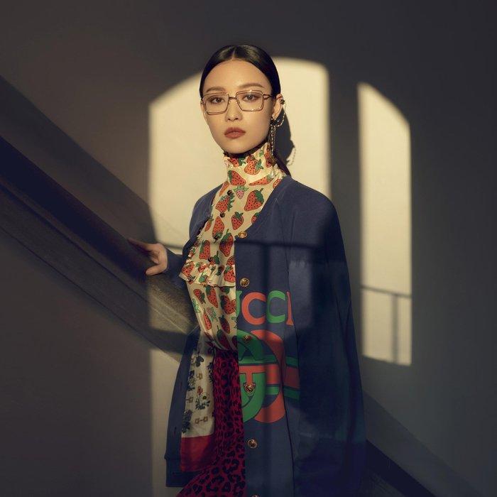 CC Collection 代購 Gucci 男女中性款 方框平光光學眼鏡/鏡架