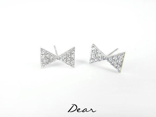 ◎【 Dear Jewelry 】◎ K金耳環 滿鑽個性型蝴蝶結14K金耳環│耐用不褪色 不過敏 適合天天戴著 生日禮物、送情人-----免運