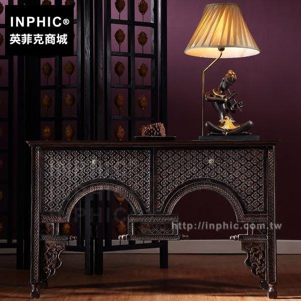 INPHIC-雕花東南亞玄關櫃隔斷門廳泰式客廳玄關桌傢俱_FMG3
