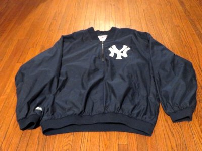 MLB NY YANKEES GAME USED/AUTHENTIC JACKET 賽前熱身風衣 SIZE:XL