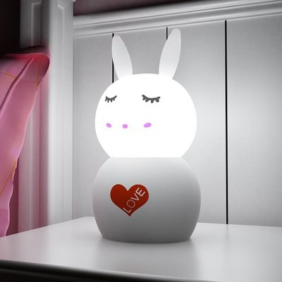 兔兔小夜燈LED充電遙控燈臥室床頭燈小臺燈新生兒嬰兒哺乳喂奶燈