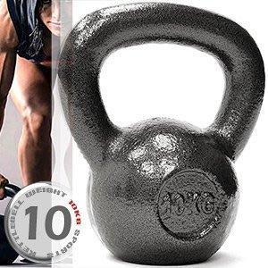 KettleBell實心鑄鐵10公斤壺鈴22磅運動10KG壺鈴競技拉環啞鈴搖擺鈴舉重量訓練用品C195-2010⊙哪裡買