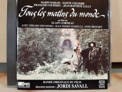 Jordi Savall,Tous Les Matins Du Monde & La Folia,沙瓦爾-日出時讓悲傷終結 & 佛利亞舞曲等二專輯,二CD,如新