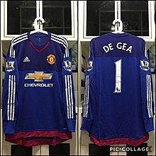 曼聯 Manchester United 2015/16 DIY全新連牌de gea size 6