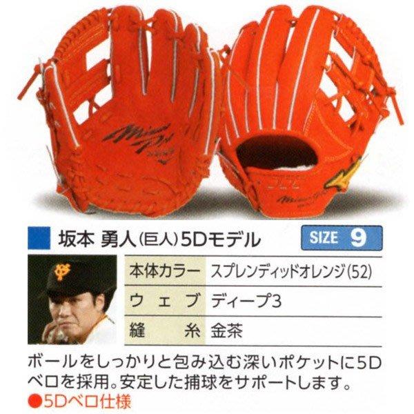 貳拾肆棒球-Mizuno pro  日本製造客製硬式手套/ 耕作監製/波賀工廠製作/坂本勇人5D式樣