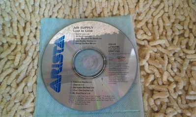 【李歐的音樂】ARISTA唱片1980年 AIR SUPPLY Lost In Love  CD裸片下標就賣