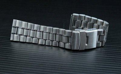 艾曼達精品~24mm 超值亞米家sea master海馬風格,平頭實心不鏽鋼製錶帶speed master單折雙按安全扣