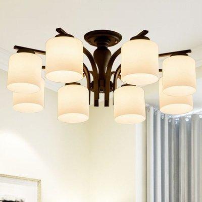 [鴻發照明]簡約吸頂燈 歐式玻璃圓形鐵藝吊燈