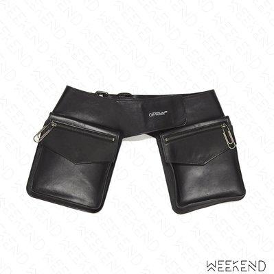 【WEEKEND】 OFF WHITE Pelle Pocket 腰包 黑色 20春夏