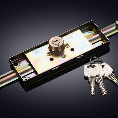 [活動價](滿699-60元)通用卷簾門鎖卷門鎖卷閘門鎖十字防盜門鎖 銅鎖 芯中間底開鎖車庫