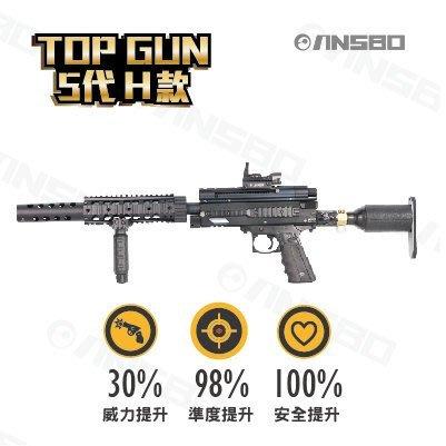 台灣製造TOP GUN 5代 CO2動力鎮暴槍 -H款 買就送超值好禮一卡車