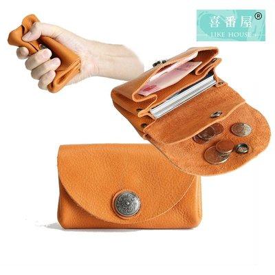 【喜番屋】真皮頭層牛皮皮夾皮包零錢包硬幣包收納包卡片包證件包名片包男夾女夾【LH565】