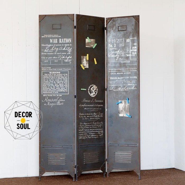 DS北歐家飾§LOFT工業風金屬鐵皮 屏風 隔間 裝潢裝飾擺設復古仿舊仿鐵鏽工作室咖啡廳餐廳擺件 設計美式鄉村風格留言板