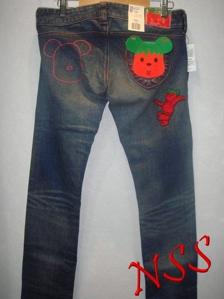 特價「NSS』CLOT LEVI'S LEVIS BE@RBRICK MEDICOM TOY 草莓褲 580 w27