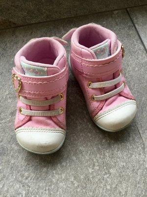 日本 Moonstar Carrot 護踝寶寶機能學步鞋 12.5cm 包覆 粉紅 天使 翅膀 月星 台北市