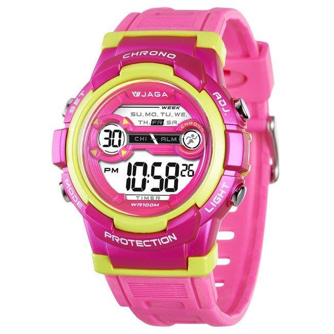 JAGA冷光電子錶 超人氣 M1126 上班族 學生錶 兒童錶 運動錶 生日禮物 獎勵品 附保固卡【↘420】