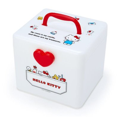 【PINK】 Hello Kitty 愛心萬用收納提箱/化妝箱/醫藥箱/工具箱M