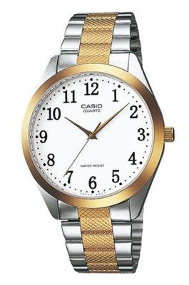 【天龜 】CASIO  時尚金銀富豪壓花腕錶  MTP-1274SG-7B 台中市
