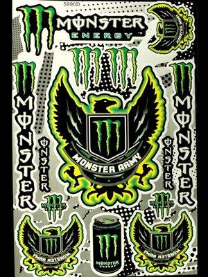 【高橋車部屋】大張彩貼 (20) 貼紙 機車 Monster 鬼爪 BWS 滑胎 越野 rockstar