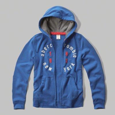 【abercrombie kids】【a&f】【零碼L】af男童款連帽外套紅1892白圓字寶藍 F09150915-04 台南市