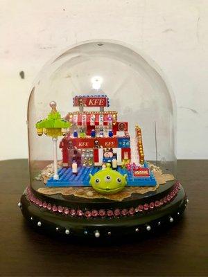 《成品》DIY 玻璃屋系列【 街景 KFE 】此為完成品,加鑽版。純手工製作,是您送禮最佳選擇,絕不能錯過。