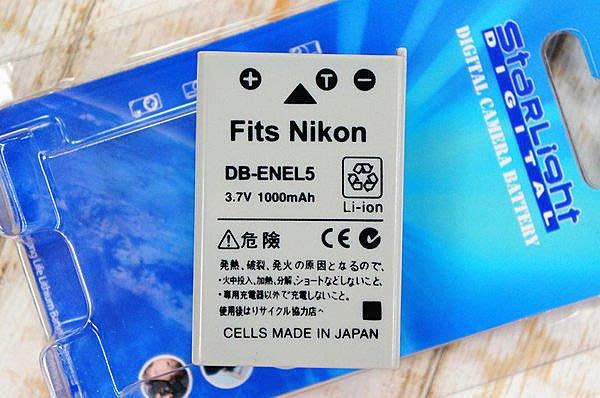 【中壢NOVA‧水世界】NIKON DB-ENEL5 ENEL5 EN-EL5 副廠 鋰電池 副電【一年保固 直接換新】