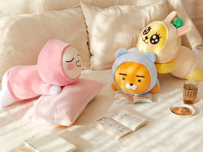 現貨 KAKAO FRIENDS 超可愛帽T娃娃大抱枕