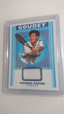 國際網球名人堂張德培Michael Chang少見球衣卡一張~250元起標