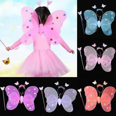 萬聖節 滿天星翅膀(3件套) 雙層蝴蝶...