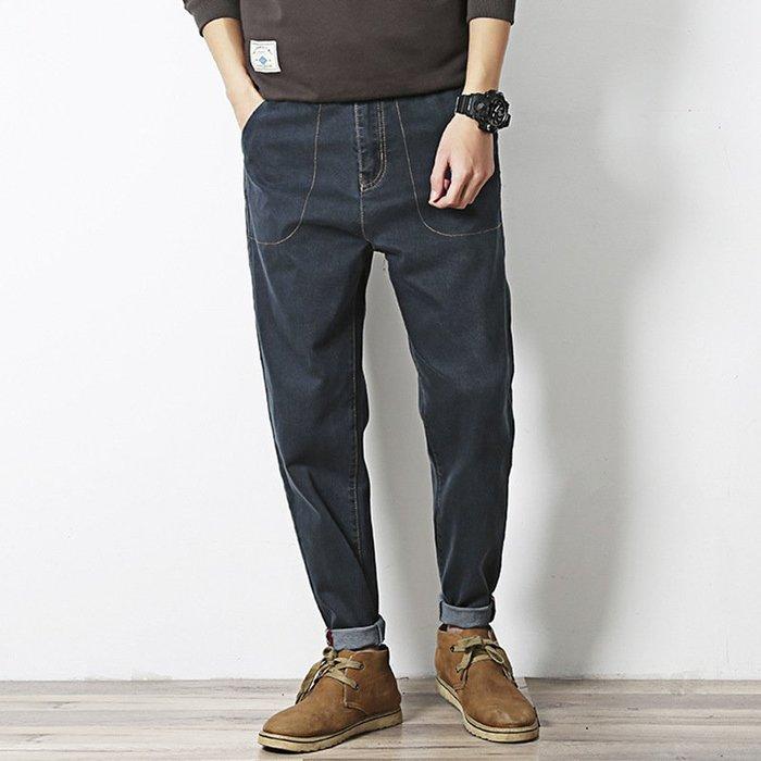新款牛仔褲春秋季新款牛仔褲男休閒褲九分褲 優質好貨 春秋牛仔褲