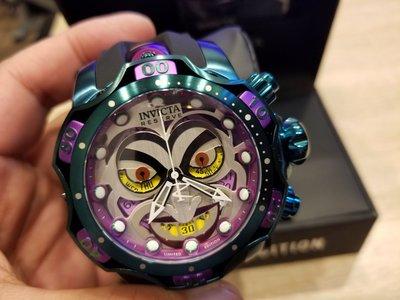 特價絕版invicta26790美國帶回小丑限量手錶
