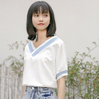 YEAHSHOP 短袖女2019新款夏裝白色百搭Y185